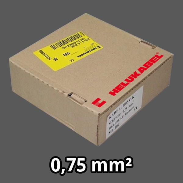 PVC- Einzeladern H05 V-K 0.75² grau
