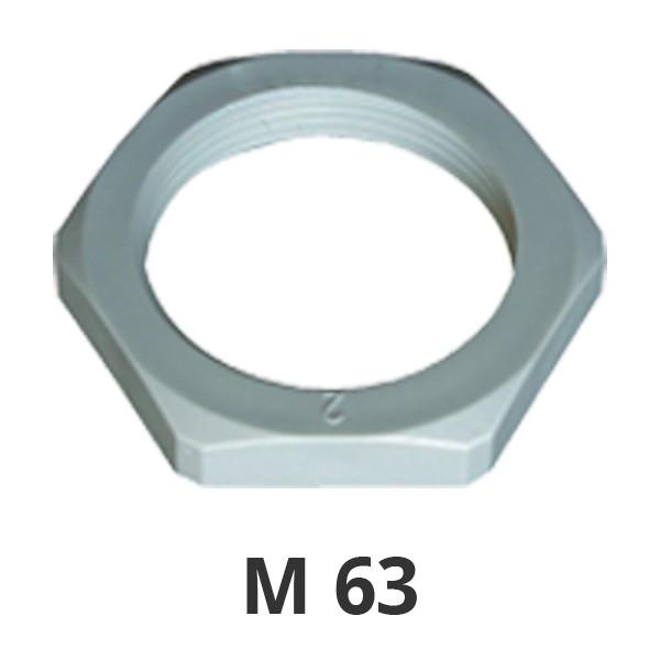 Gegenmutter M63 grau
